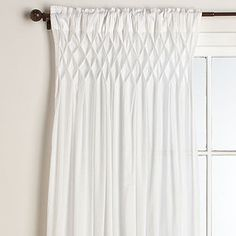 Smocked Top Curtains for the guest room....pretty reasonably priced too at $26.99