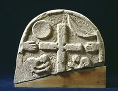 9th century Viking grave marker from Lindisfarne, Northumbria.