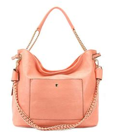 Take a look at this Coral Andrea Shoulder Bag by Robert Matthew on #zulily today!