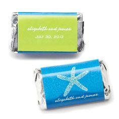 Hershey's� Starfish Mini Chocolate Bars Personalized Favor
