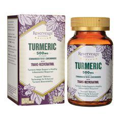 Reserveage Nutrition Turmeric Red With Trans Resveratrol 60 Veg Caps
