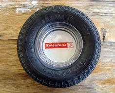 Vintage era ashtray is also a great piece of advertising for Firestone Tires. Features big rubber ashtray with glass red & white Firestone ashtray in center that is removable. Firestone Tires, Man Cave, Red And White, Advertising, Ebay, Vintage, Collections, Memories, Memoirs