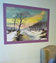This winter scene is a favourite of both residents and staff. Care Homes, Winter Scenes, Creative Art, Murals, Original Art, Environment, Painting, Design, Creative Artwork