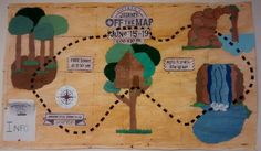 Journey off the Map VBS promotional bulletin board