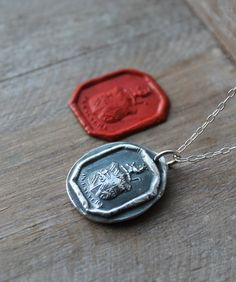 Never give up - Persevere - Lion crest wax seal fine silver pendant by ALMrozarka on Etsy Silver Charms, Silver Jewelry, Symbols Of Strength, Antique Wax, Wax Seals, Never Give Up, Handmade Silver, Dog Tag Necklace, Sterling Silver Rings