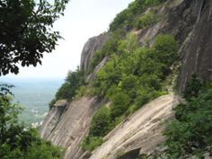 Chimney Rock - NC before the closing trails