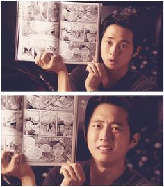Steven Yeun comparing himself to the comic book Glenn