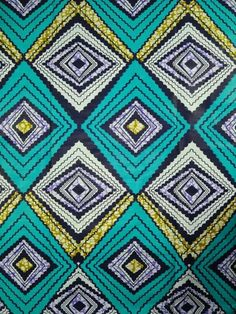 6 Yards Cotton African Fabric Super Wax Print sw806015 - Wax Print
