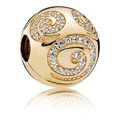 Mickey Mouse Golden Swirl Charm by PANDORA   Disney Store