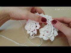 Vestido de noiva crochê irlândes / galho principal - YouTube Irish Crochet, Crochet Motif, Crochet Flowers, Crochet Videos, Crochet Earrings, Knitting, Crochet Dress Patterns, Irish Lace, Fabrics
