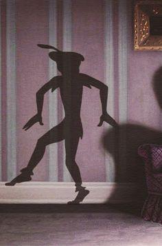 Peter Pan's shadow from Disney movie