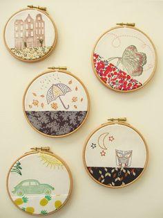 *Tadaam !: Hoop art #5 - Embroidery hoops / Tambours à broder / Broderies