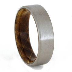 Jack Daniels Whiskey Barrel Ring with Titanium by jewelrybyjohan