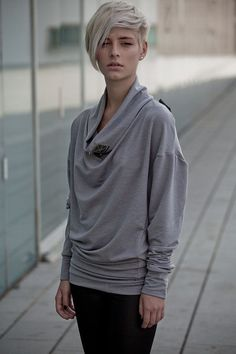 NEW light GRAY Oversized boyfriend  french terry sweatshirt Express SHIPPING upgrade for 16usd. $62.00, via Etsy.