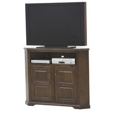 Eagle Furniture Manufacturing Savannah TV Stand Finish: Burnt Cinnamon, Door Type: Plain Glass