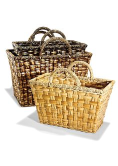 Wicker baskets #homedecor #Marshalls