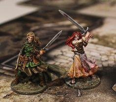 Silas and Nelly from Black Plague Zombicide game