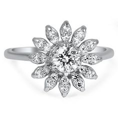 18K White Gold The Palesa Ring, top view, at brilliantearth.com