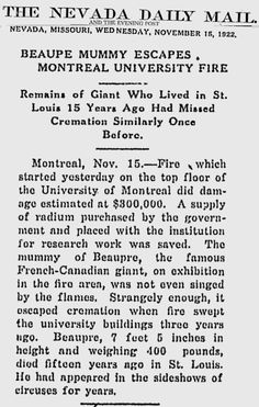 Edouard Beaupré - The tallest man Canada Le Geant Beaupre
