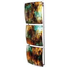 Heather Ann 3-panel Foil Glazed Wall Decor