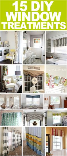 15 DIY Window Treatments. The Detail On The Board Valances Are Amazing!