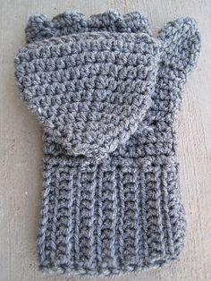 Free Crochet Patterns Flip Top Mittens : 1000+ images about Crochet Mittens on Pinterest Crochet ...
