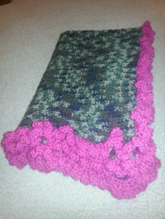 The Finished Baby Blanket Chevron Pattern Crocheted I