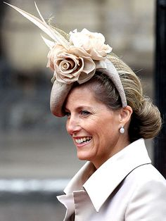 Best Hats of the Royal Wedding....The neutral colors are very becoming & the hat is fabulous.