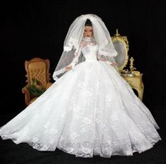 Electronics, Cars, Fashion, Collectibles, Coupons and Barbie Bridal, Barbie Wedding Dress, Wedding Doll, Barbie Gowns, Barbie Dress, Barbie Clothes, Wedding Dresses, Barbie E Ken, Barbie Model