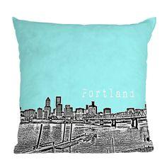 DENY Designs BirdAve Portland Ice Throw Pillow | Pure Home