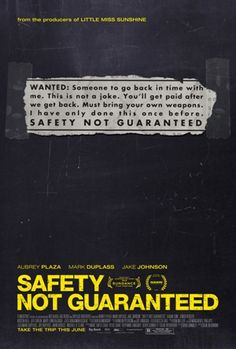 Safety Not Guaranteed , starring Aubrey Plaza, Mark Duplass, Jake Johnson, Karan Soni. Three magazine employees head out on an assignment to interview a guy who placed a classified ad seeking a companion for time travel. Jake Johnson, Aubrey Plaza, Hd Movies, Movies To Watch, Movies Online, Movies And Tv Shows, Comedy Movies, Movies Free, Kristen Bell