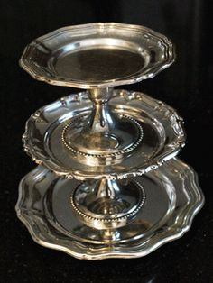 stacking silver Silver Trays, Silver Spoons, Silver Platters, Tarnished Silver, Sterling Silver, Vintage Silver, Antique Silver, Silver Decorations, Silver Tea Set