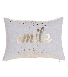 In The Garden Linen & Cotton Pillow-Smile
