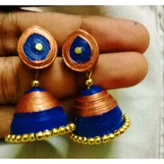 Quilled Peacock Jhumka