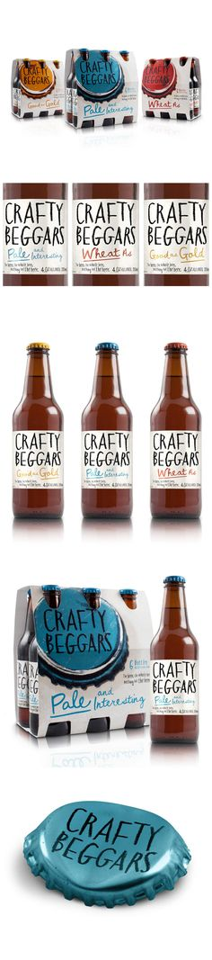 Crafty Beggars / by: Curious Design / #beer PD