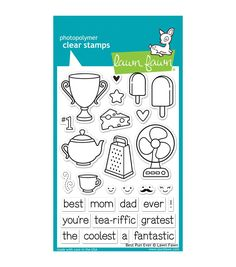"""Lawn Fawn Clear Stamps 4""""X6""""-Best Pun Ever"""