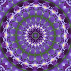 ❤~ Mandala ~❤☮Calidoscopio Lirio ❤~ Mandala ~❤