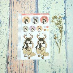 Forest Fairy Just Dollz Sticker Set Filofax, Trending On Pinterest, Forest Fairy, Craft Business, Erin Condren, Sell On Etsy, Carpe Diem, Happy Planner, Paper Dolls