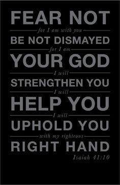 No dismay...
