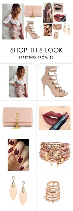 """""""Untitled #923"""" by clariinhafloor on Polyvore featuring Alexander McQueen, Yves Saint Laurent, Fiebiger, Accessorize, GUESS, women's clothing, women, female, woman and misses"""