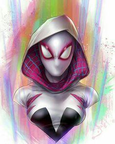 Spider Gwen, Comic Books Art, Book Art, 3 In One, Comic Artist, Spiderman, Halloween Face Makeup, Joker, Princess Zelda