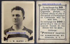 WANT THIS RARITY? click on this link and send me £41.18 includes worldwide shipping, £41.18 British Pounds Sterling to: https://www.paypal.me/rarecards/41.18  #Celtic Pinnace K high number W. McStey 1118 frameline 1923 Godfrey Phillips football card rookie Glasgow soccercard Scotland cigarette cards#pinnace high number#Celtic#1118 McStey#cigarette card#godfrey phillips#football card
