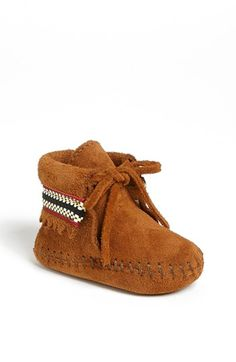 Minnetonka Braid Bootie (Baby & Walker) available at #Nordstrom