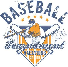Tournament Vacations Baseball Graphic is completely and instantly customizable in CorelDraw or Illustrator! Baseball Vector, Baseball T Shirt Designs, Baseball Banner, Vector Design, Logo Design, Baseball Tournament, Golf Clubs, Vacation, Illustration