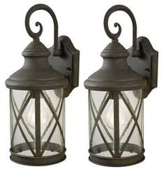 Beige house -taupe trim -  black or these light fixtures?