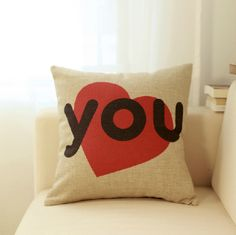 Girlfriend Pillow Sweet Heart Creative Simple Throw Pillow For Sofa | Cosplay, t shirt, cufflinks and more | Buytra
