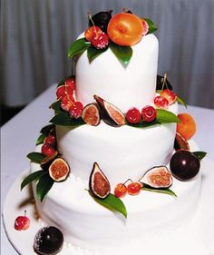 Brides: Local Scout Boston : enchanted wedding cakes   Enchantedweddingcakes.com $1000.00 Vanilla or Chocolate Cake with exotic fruits.
