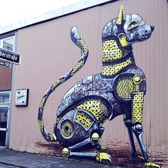 Pixel Pancho New Mural In Düsseldorf, Germany