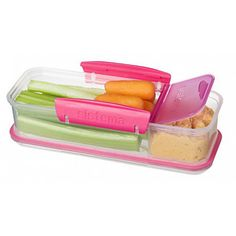 Sistema Snack Attack To Go Food Storage Container Oz Assorted Colors - Office Depot Pink Snacks, Lunch Snacks, Clean Eating Snacks, Lunch Box, Work Lunches, School Snacks, School Lunch, Lunch Time, Healthy Eating