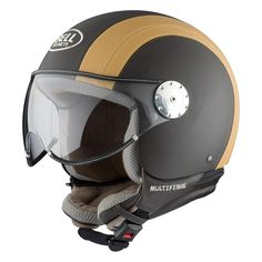 Bell Shorty Sport Motorcycle Helmet - Chocolate / Cream